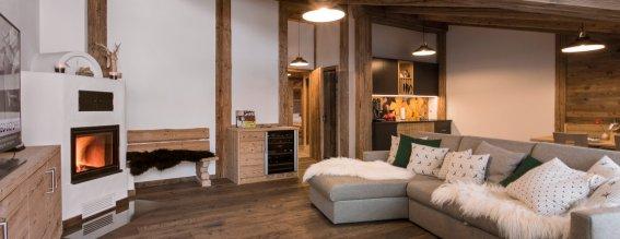 Wohnzimmer Alpin Lodge Sonnenröschen 1