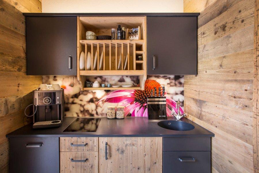 Küche in der Alpin Lodge Sonnenröschen 1