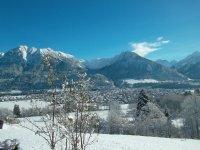 Wintertraum Ausblick vom Haus
