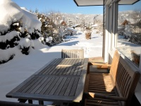Platzhirsch - Unsere Terrasse im Winter