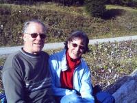 Ehepaar Raue auf Wanderung