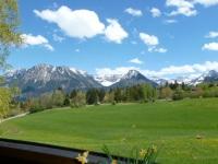 Kornau Ausblick auf die Oberstdorfer Bergwelt