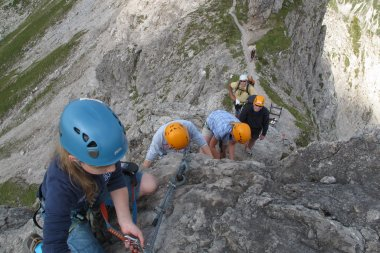 Klettertour auf dem Hindelanger Klettersteig