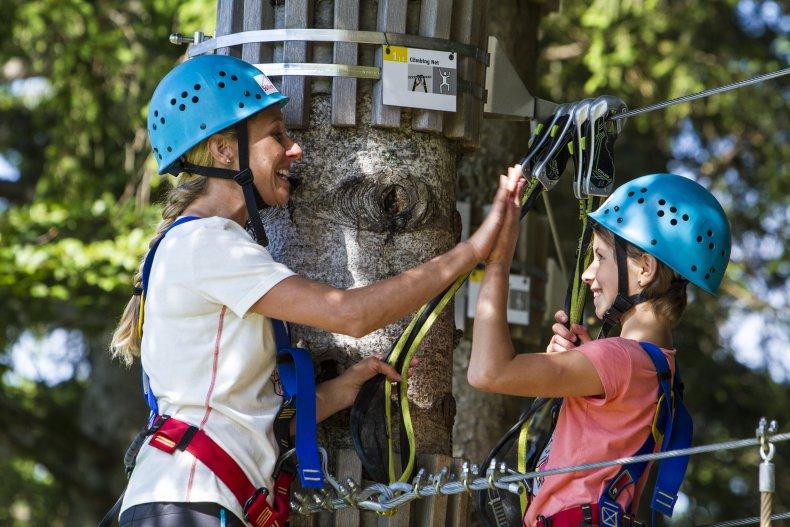 Teamwork im Kletterwald