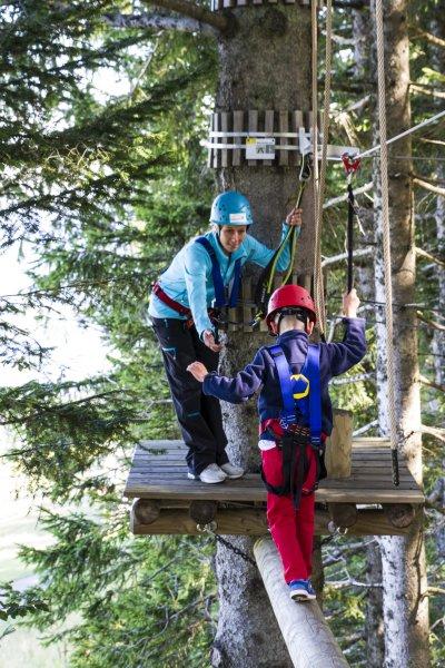 Balanceakt im Kletterwald