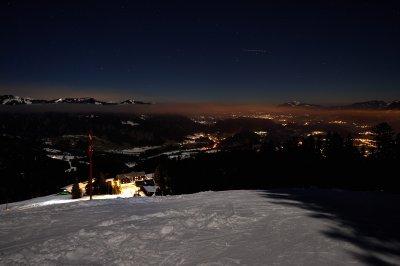 Ausblick vom Söllereck bei Nacht