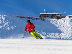 Skifahren an der Kanzelwand