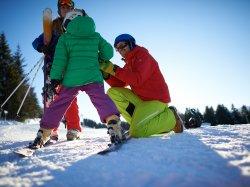 Ein Familien-Skitag geht zu Ende