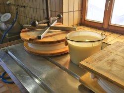 Käseherstellung auf der Alpe