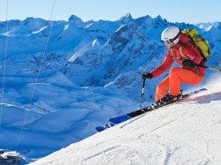 sportliche Abfahrt am Nebelhorn