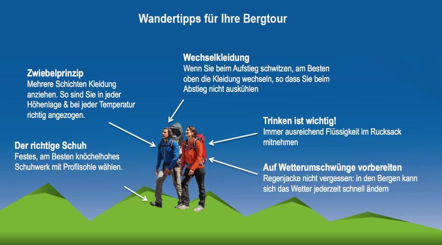 Wandertipps für Ihre Bergtour