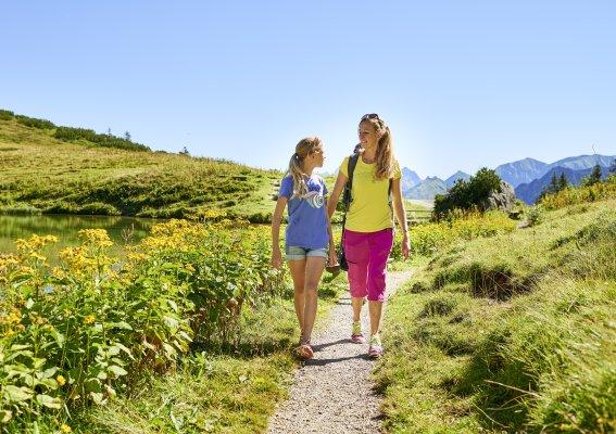 Wandern mit Mama