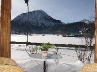 Winterausblick Bergpanorama