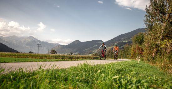 Unterwegs auf dem Zillertal Radweg