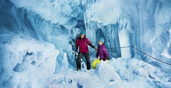 Ein Eistraum am Hintertuxer Gletscher im Zillertal