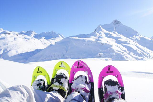 Mit Schneeschuhen unterwegs zur Bielerhöhe