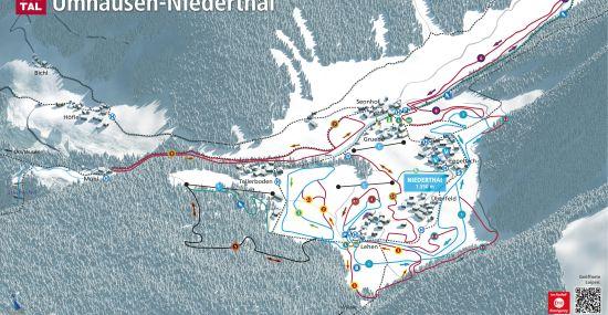 Langlaufkarte Niederthai