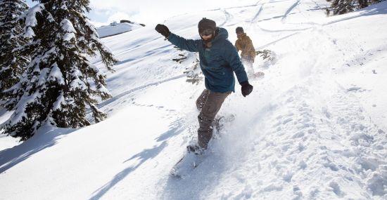 Snowboarden im Zillertal in Tirol