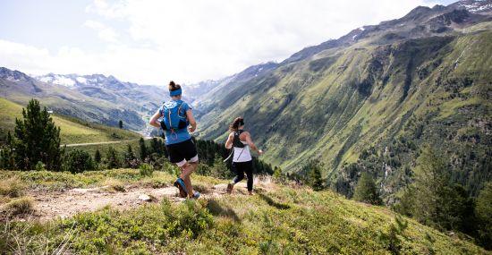 Trailrunning in den Alpen mit Aussicht
