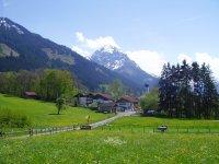 Schöllang ... unsere Dorfeinfahrt, wenn Ihr von Norden kommt ...