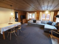 Wohnzimmer Ferienwohnung Lexar Hüs Oberstdorf