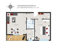 Grundriss Wohnung Bergblick