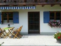 Terrasse Ferienwohnung Enzian
