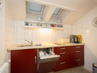 Separate Küche mit Türe
