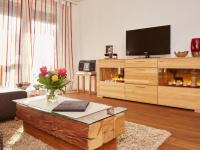 Wohnzimmer mit großem Flachbild-TV zeitlos