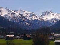 Oberstdorf im Frühjahr/Blick vom Balkon