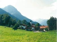 Schöllang von Norden mit Blick auf das Rubihorn