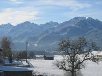 Blick auf Oberstdorfer Berge