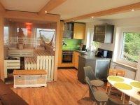 Sauna, Küche und Essbereich