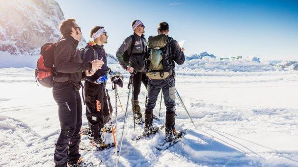 Schneeschuhtour in den Alpen