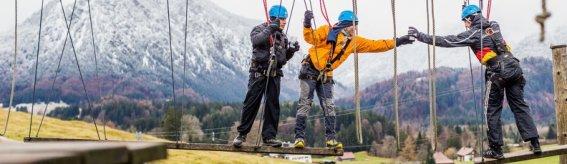 Teamparcours ICO-Skywalk-Hochseilgarten