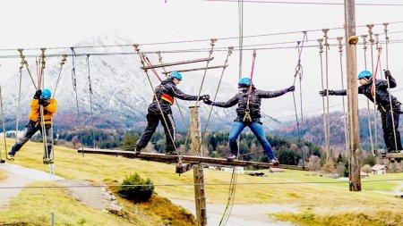 Teamparcour ICO Skywalk Oberstdorf Hochseilgarten