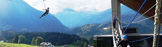 Flying Fox ICO-Skywalk-Oberstdorf-Hochseilgarten