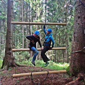 Waldseilgarten Riesenleiter