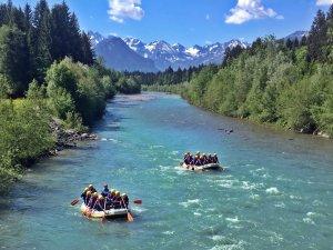 Rafting auf der Iller im Allgäu