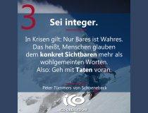 Charisma-Prinzip 3: Sei integer.
