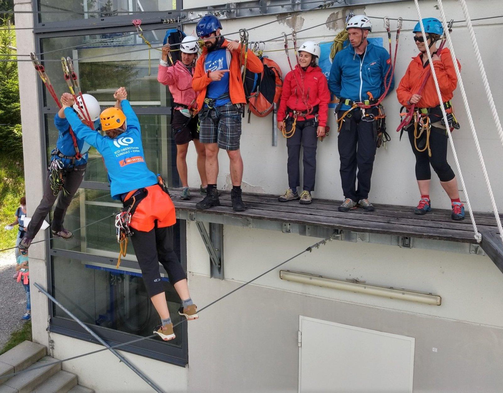 Sicherheits-Training im Skywalk - ICO ImpulseConsult Oberstdorf
