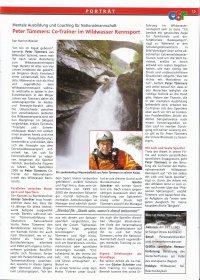 asr: Portrait Peter Tümmers als Co-Trainer der Wildwasser Nationalmannschaft und Mentalcoach