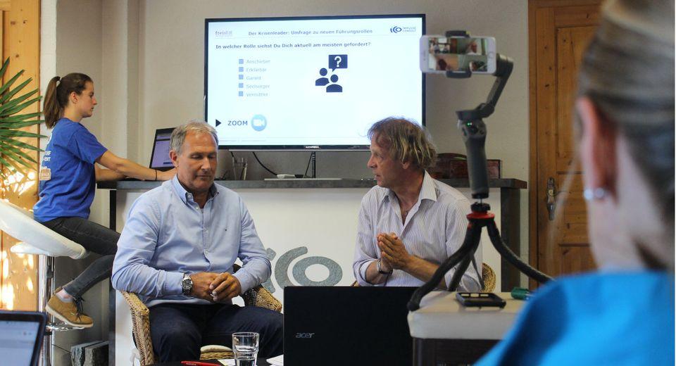 Peter Tümmers und Jürgen Freisl im ICO-Center