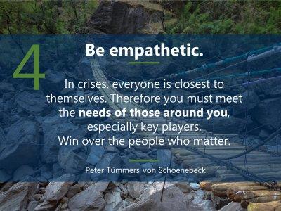 4. Sei empathisch  5 Prinzipien für Führen in Krise englisch