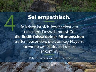 4. sei empathisch  5 Prinzipien für Führen in Krise_Mrz21