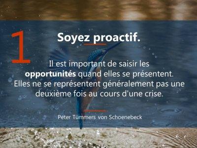 1. Sei initiativ  5 Prinzipien Führen in Krise französisch Mrz21