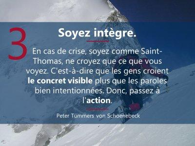 3. sei integer  5 Prinzipien Führen in Krise französisch Mrz21