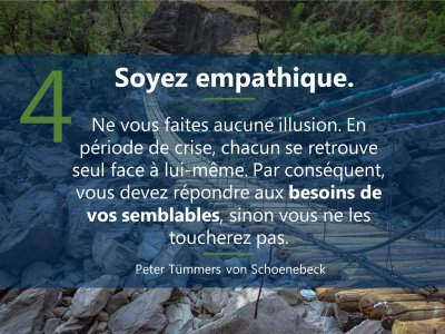 4. sei empathisch  5 Prinzipien Führen in Krise französisch Mrz21
