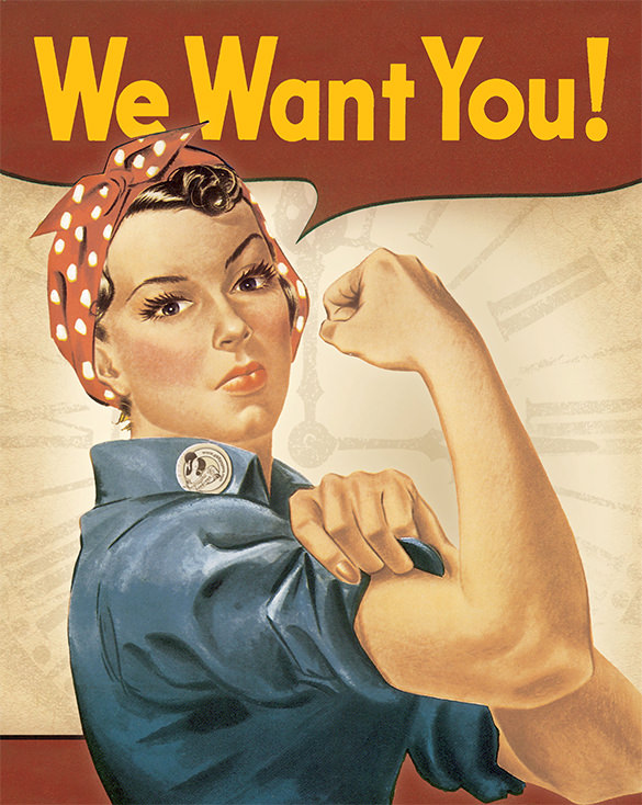 We Want You Job Frau Managerin Büroleiterin