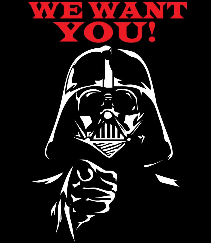 We want You Job Junior Consultant Darth Vader